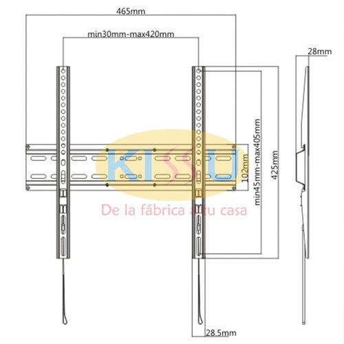 soporte de pared tv 32´´-55´´ 35 kg quito guayaquil, envios