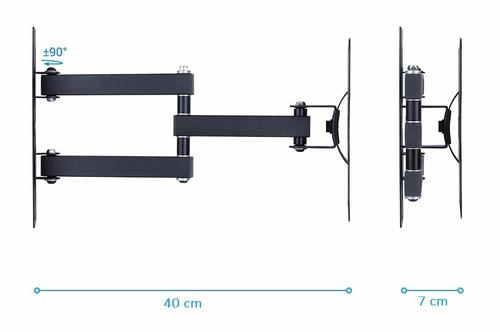 soporte de pared tv lcd, led, hasta 42''/ 35kg