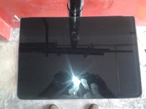 soporte de pedestal para tv hasta 55  doble repisa de vidrio