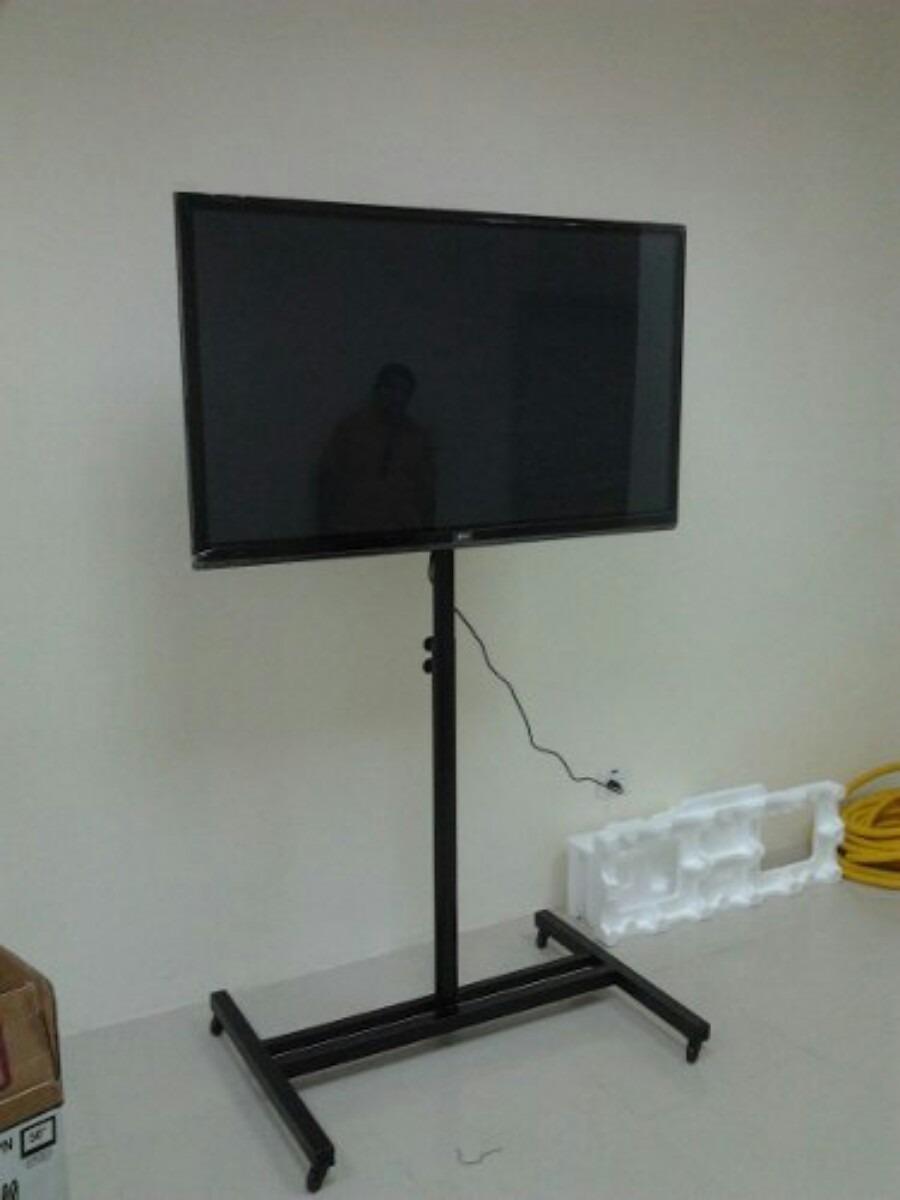 Soporte de pedestal para tv plasma led hasta 55 u s 75 for Soporte para tele