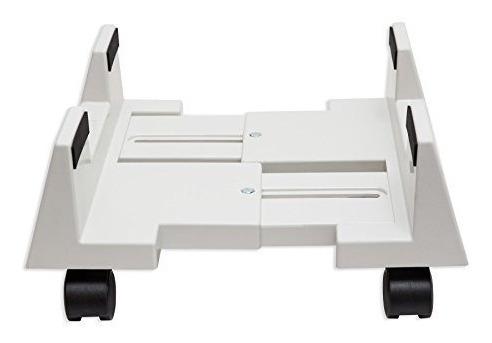 soporte de plástico p/cpu syba c/ancho ajustable y 4 ruedas