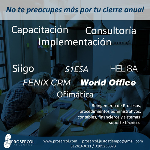 soporte de siigo - helisa - s1esa - world office