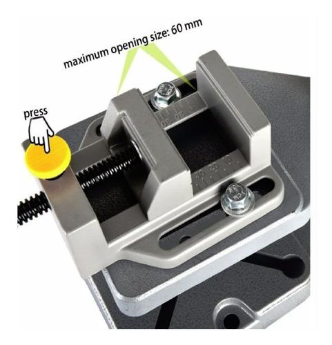 soporte de taladro con base hierro fundido + prensa rapida