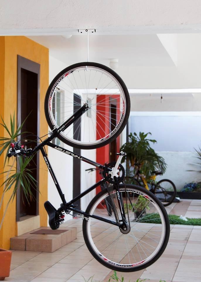 Excepcional Colgar Bici Techo Ideas Ideas de Decoración