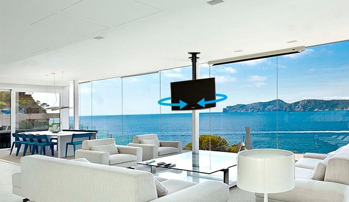 Soporte de techo para televisor de 23 a 55 pulgadas - Soportes de tv para techo ...