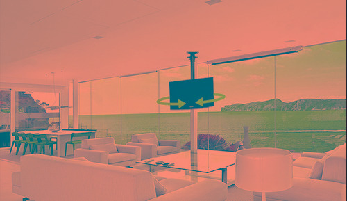 soporte de techo para tv xtech 527 giro 360 inclinacion 10 °