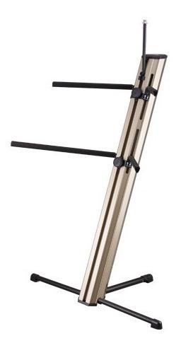 soporte de teclado soundking doble con soporte de microfono