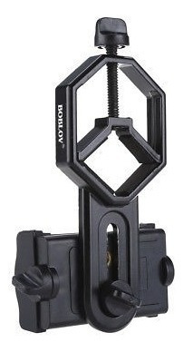 soporte de teléfono negro binocular monocular telescopio par