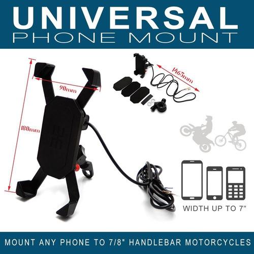 soporte de teléfono para moto con puerto de carga usb