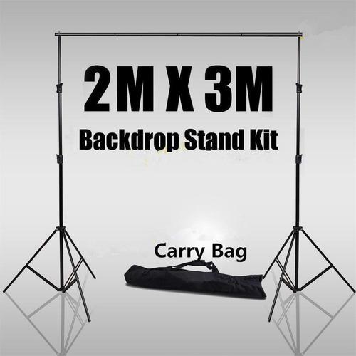 soporte de telón de fondo de fotografía con 1x bolsa de tr