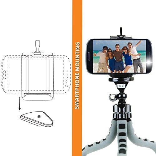 soporte de tripode flexible cam para camara de accion con pa