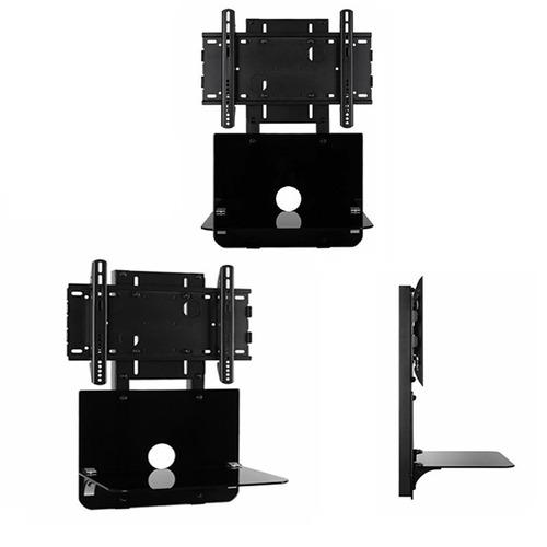 soporte dfg para led y lcd c/ mesa vidrio 24 32 40 42