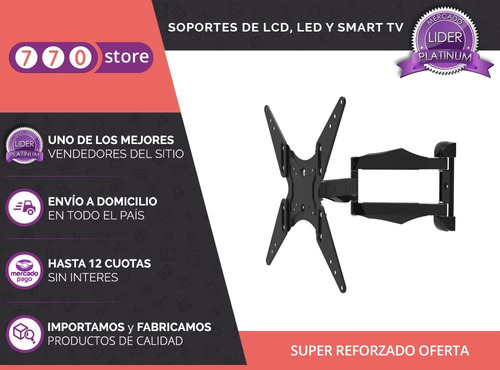 soporte diseño extra largo tv smart lcd led 42 50 55 oferta!