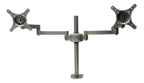 soporte doble monitor escritorio led lcd hasta 23 pulgadas
