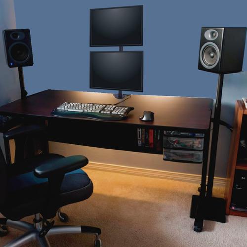 soporte doble monitor tv led lcd escritorio 13 a 27 full