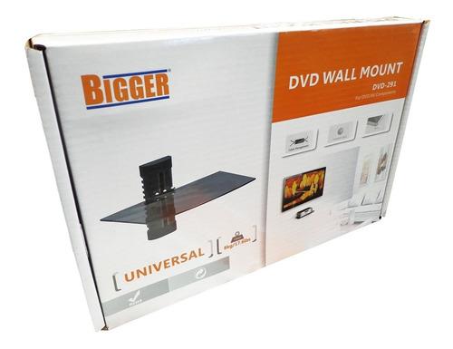 soporte dvd colgante vidrio ajustable deco wii play xbox ps4