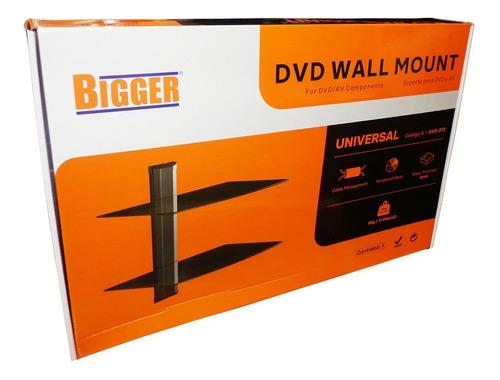 soporte dvd doble colgante vidrio ajust. deco wii play xbox