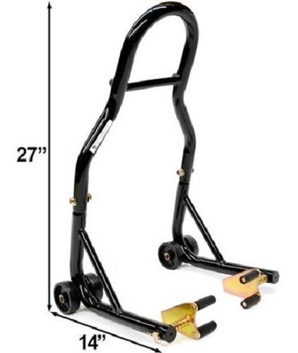 soporte elevación de moto stand delantero y trasero venom