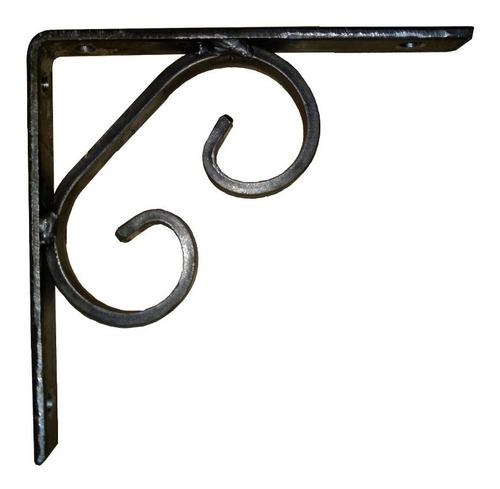 soporte escuadra mensula para estante o repisa. artesanal