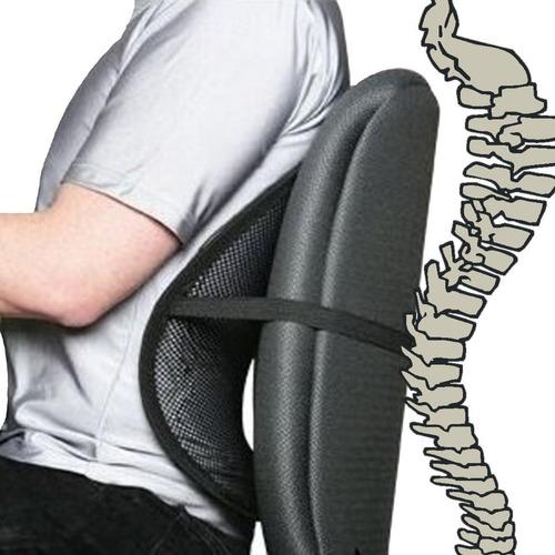 soporte espalda corrector postura cojín lumbar silla mnr p