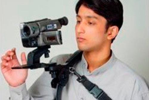 soporte estabilizador de hombro para camaras / filmadoras