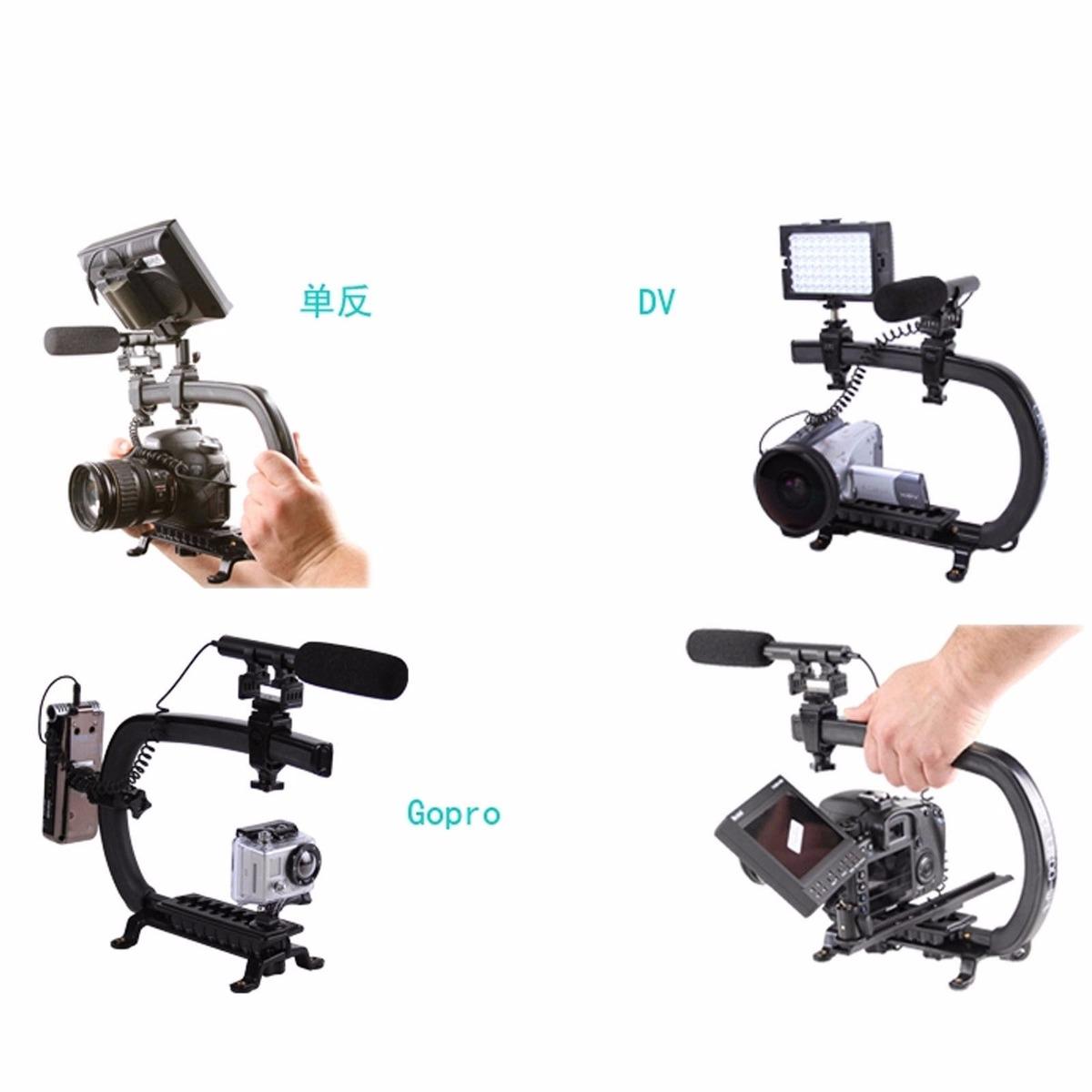 Soporte estabilizador para camara dslr y videocamara canon for Estabilizador de camara
