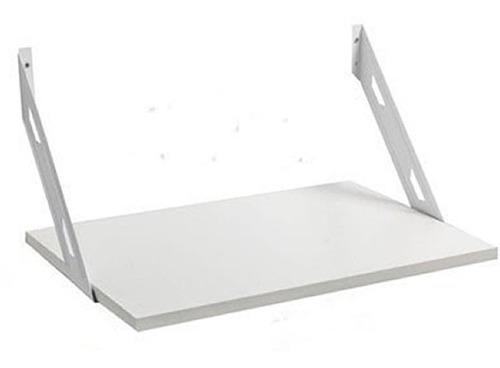 soporte estante microondas 52x36  blanco mensula soporta 90k