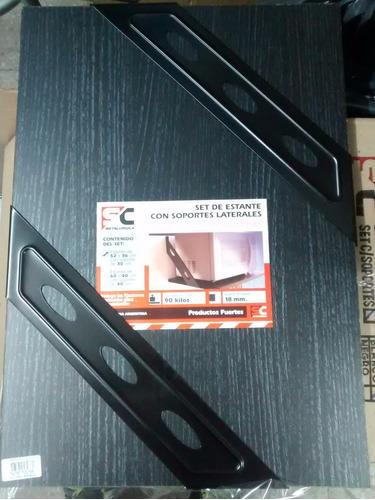 soporte estante microondas horno eléctrico  52x36 negro 90kg