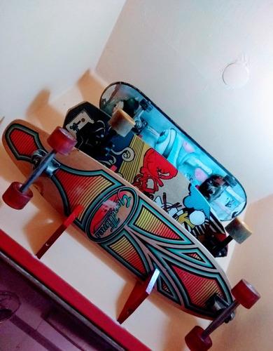 soporte exhibidor de pared para skate y longboard