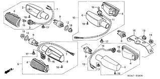 soporte farol de giro original honda twister-titan150-xr125l