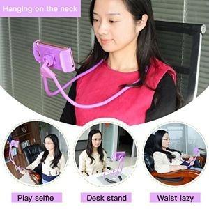 soporte flexible cuello celular tablet iphone samsung huawei
