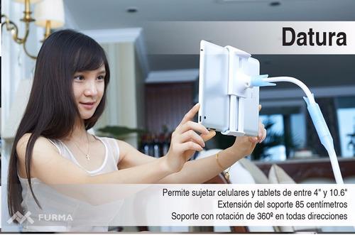 soporte flexible para celular y tablet datura