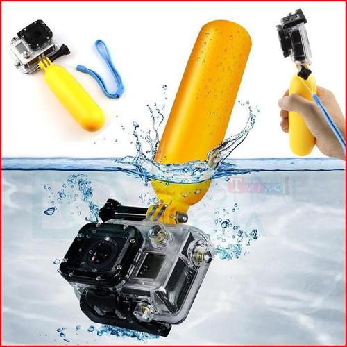 soporte flotador palo para cámara gopro / xiaomi / sjcam