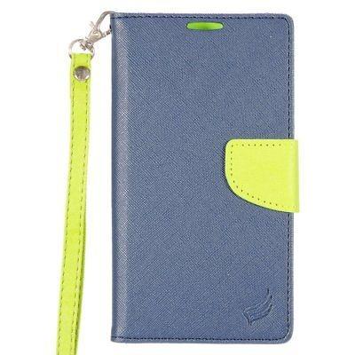 soporte folio cuero flip flap funda para lg stylo 2 plus ms5