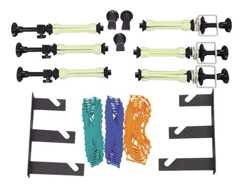 soporte fondo infinito x3 cadenas ganchos mensula visico