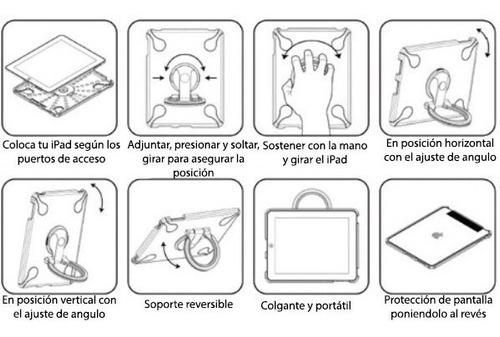 soporte funda carcasa protector ipad 1 multifuncion