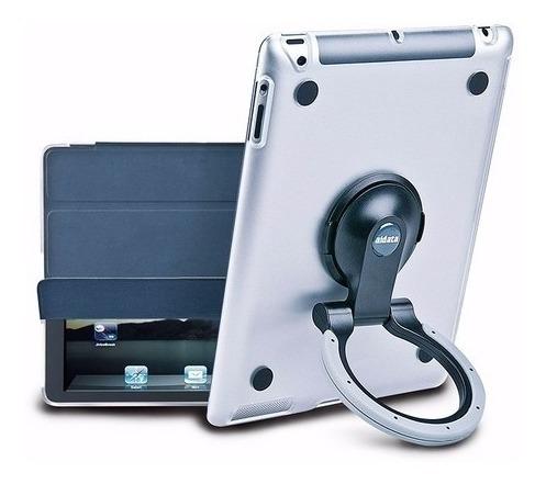soporte funda carcasa protector ipad 2 multifuncion gris