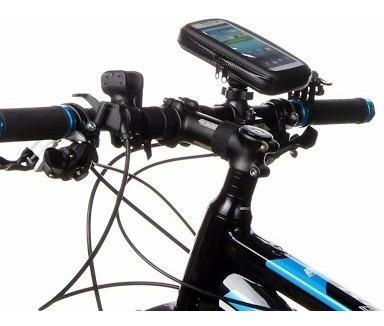 soporte funda contra agua para bicicleta gps