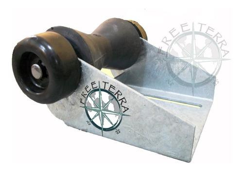 soporte galvanizado + rodillo 190mm + tapas laterales traile