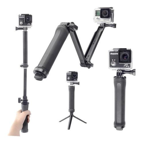 soporte gopro hero 6 7 8 tripie 3 way monopod selfie stick