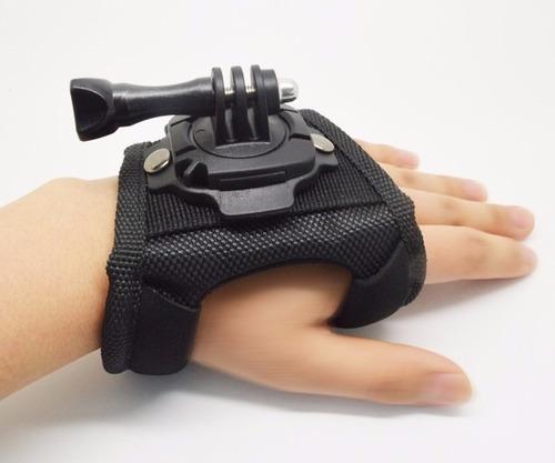 soporte guante 360° para gopro sjcam muñequera accesorio