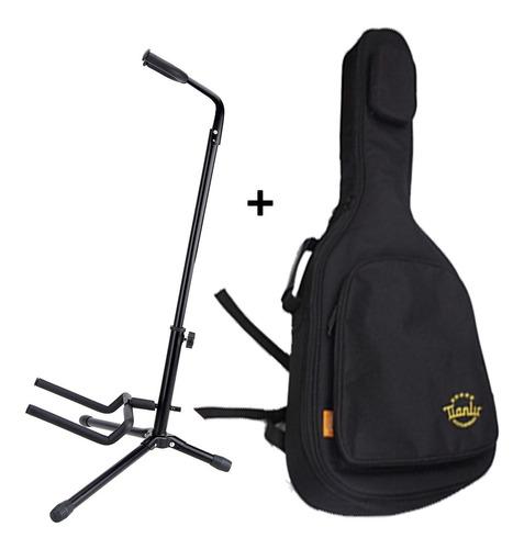soporte guitarra + funda guitarra eléctrica