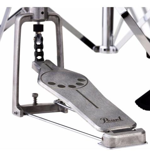 soporte hi-hat pearl h-830 a cadena pata doble pedal t/demon