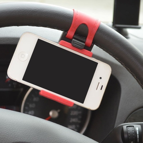 soporte holder de volante celular mp3,4, móvil ,gps,iphone