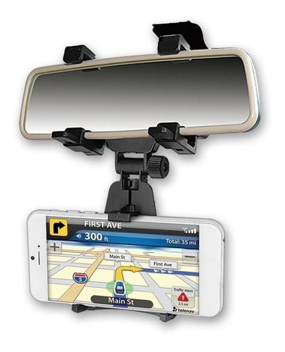 soporte holder para celular en espejo retrovisor de carro