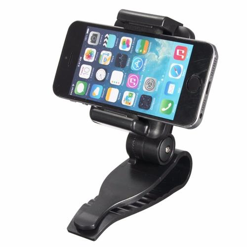 soporte holder para celular gps para tapasol auto carro