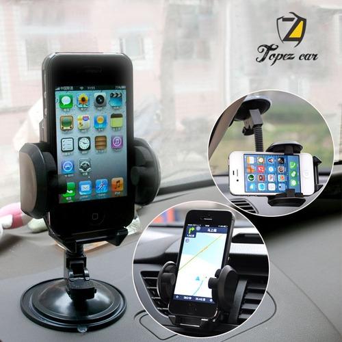 soporte holder porta celular 3 en 1 para autos modelo t.1