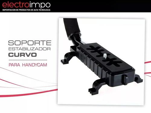 soporte iluminador led curvo para handycam
