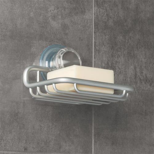 soporte jabón con giro de bloqueo en aluminio. ref 20110