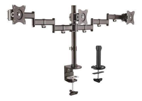soporte klipxtreme 3 monitores 13 a 27' c/prensa kpm-320